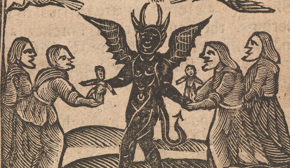 Old Woodcut of Witches